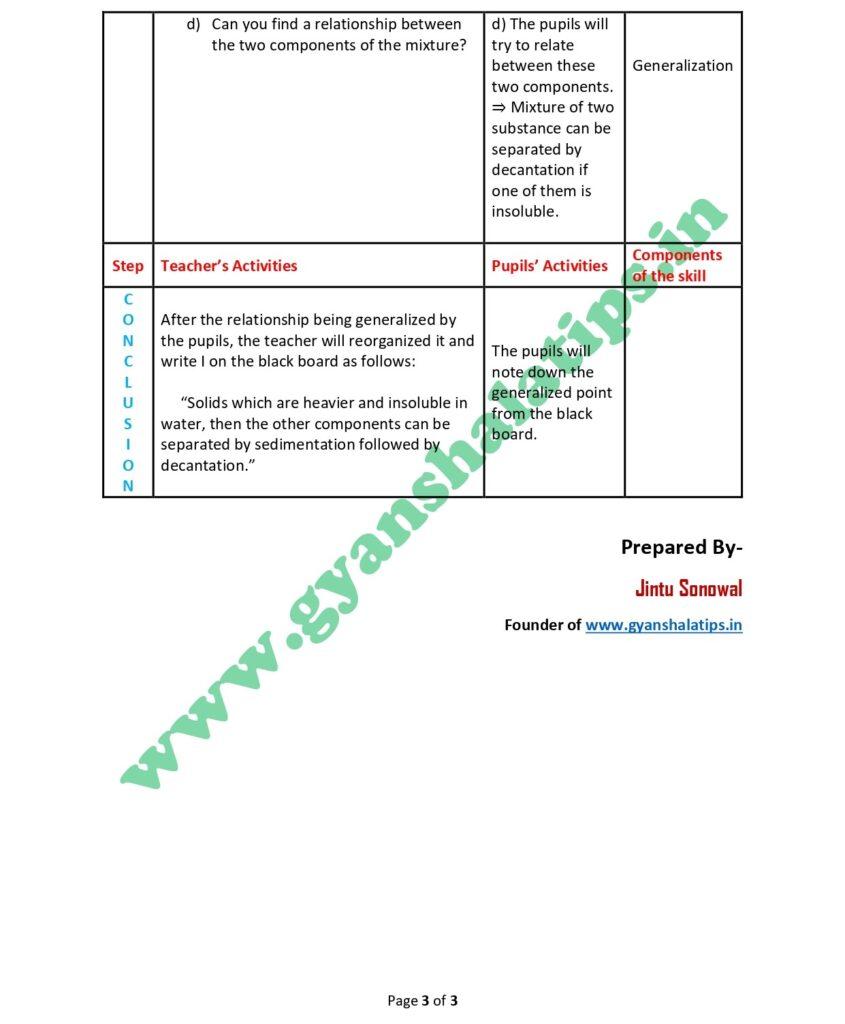 sedimentation and decantation micro plan